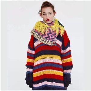 Zara | Oversized Striped Italian Yarn Sweater